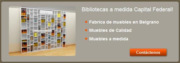 Encontr en akra interiores las bibliotecas a medida for Muebles baratos en capital federal