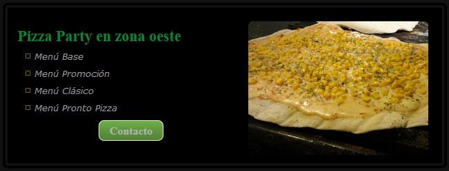 Pizza Party zona norte costo