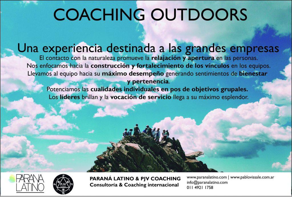 Pablo Javier Vissale explica que son los cursos de coaching outdoors