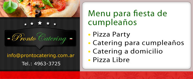 Eventos Menu De Pizzas Barrio Escobar